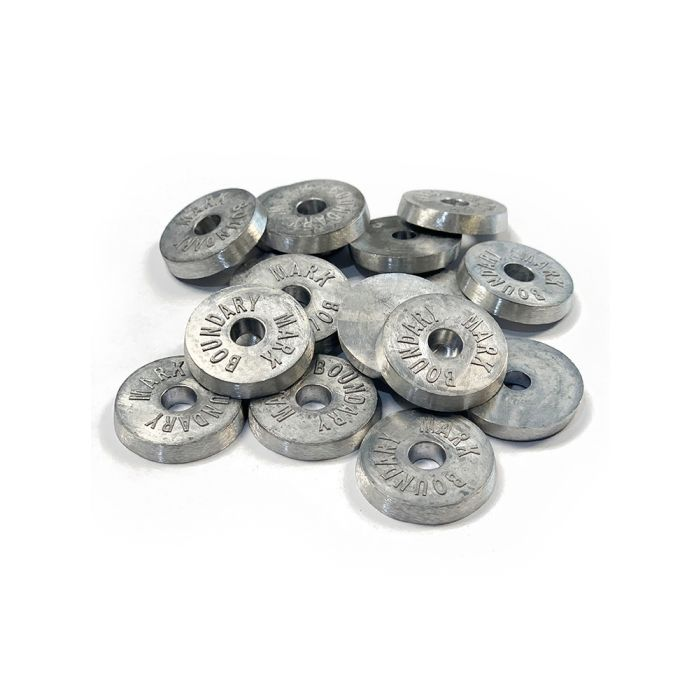 Survey Boundary Disc / Washer / Marker Round 33mm Each