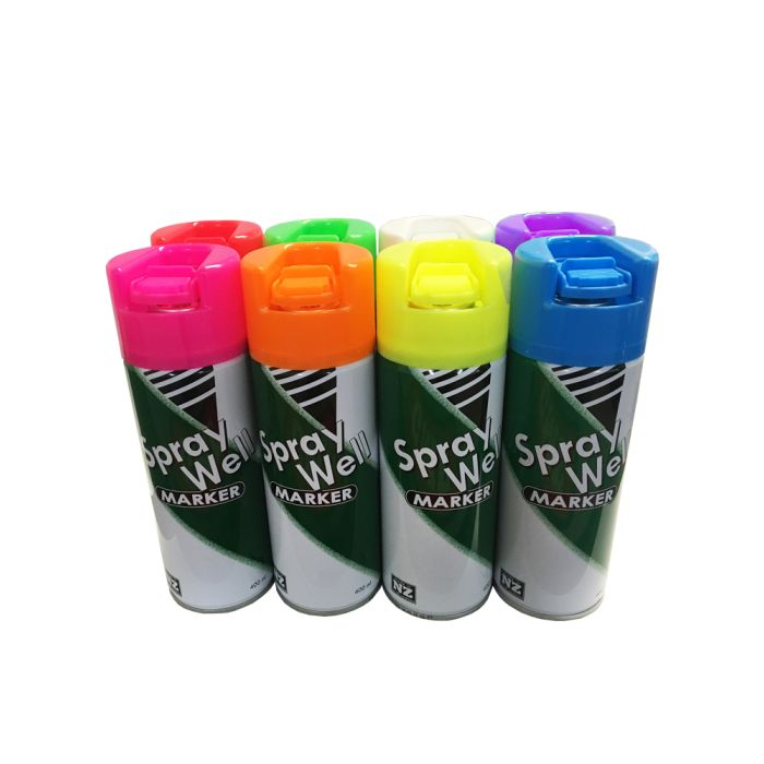SprayWell Marking Paint - 400ml Upside-down Cans each
