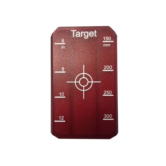 Trilex Pipe Laser Target Small Red