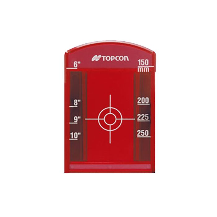 Topcon Pipe Laser Target Small Red